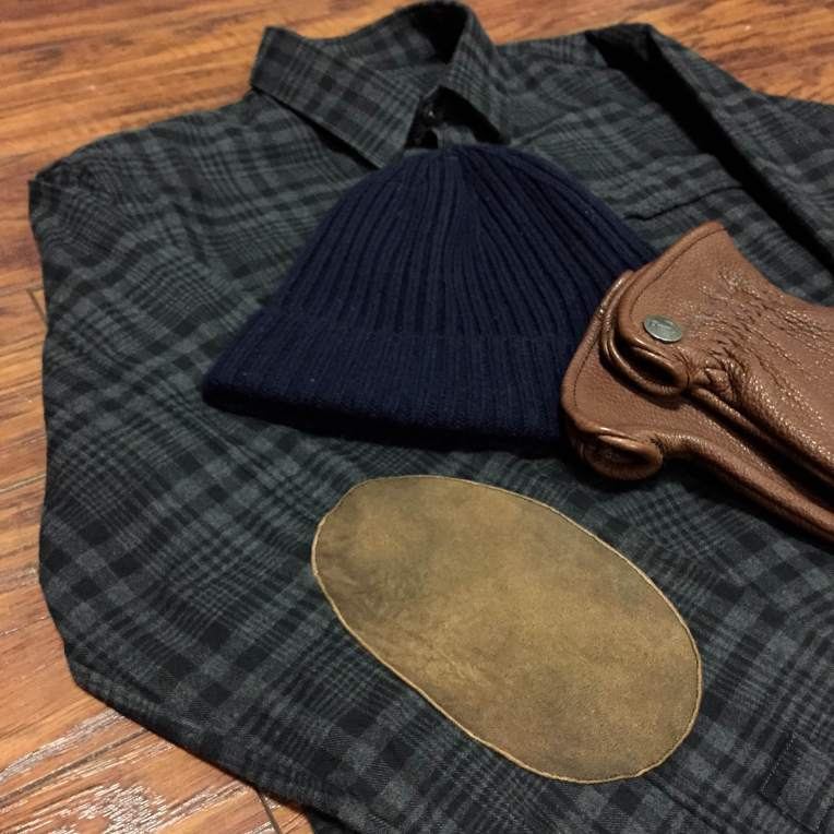 Cold-weather style essentials with which to pair this shirt -- the Buffalo Bobber Glove from Iron & Resin, and a Merino Watch Cap from American Trench.