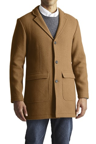 A nice price, a slim fit and a great color -- just what you want in a topcoat.