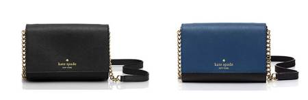 Just two of a multitude of color options in a refined leather accessory.