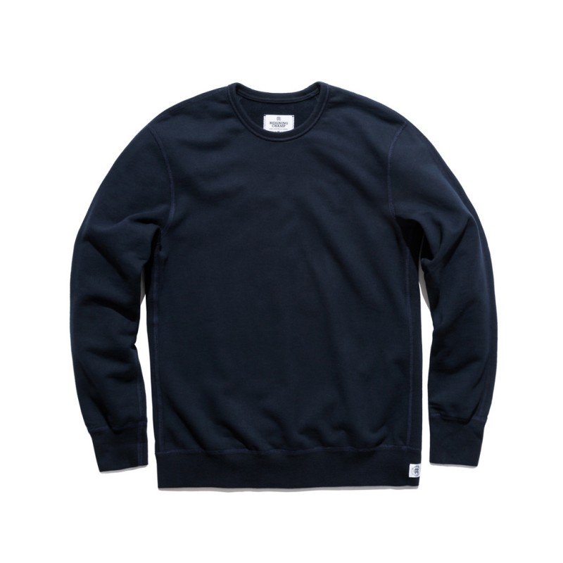 Slim-cut, a classic color and plenty of styling options -- the navy crewneck sweatshirt from Reigning Champ.