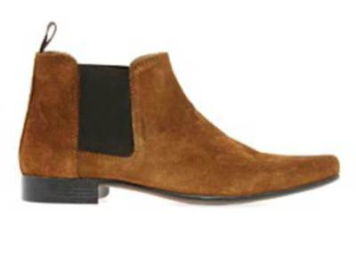 Dark tan suede Chelsea boots that combine some unique color with a terrific price.