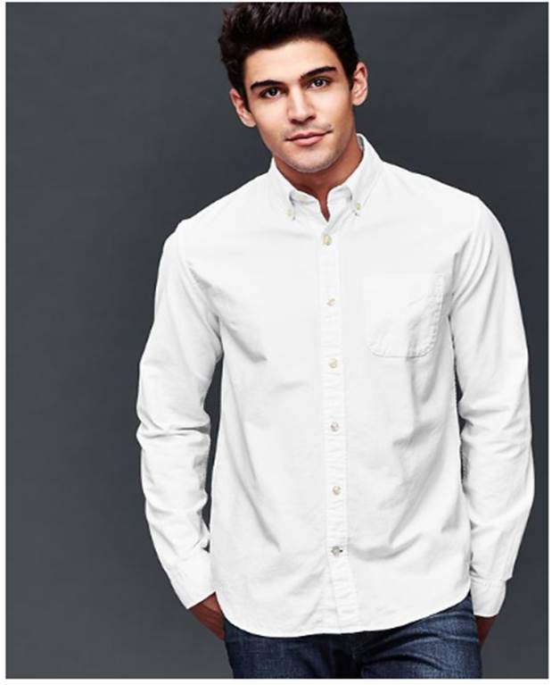 The definition of classic -- a simple white Oxford.
