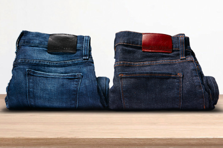 Available in two washes, the Medium Blue Wooster Jean on the left looks the most promising.