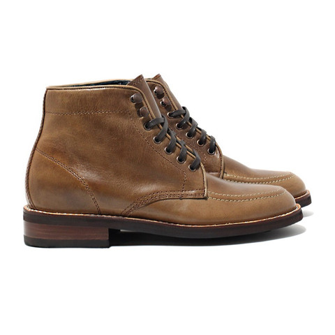One of two other options in the brand's Diplomat silhouette, this one made out of Natural Horween leather.