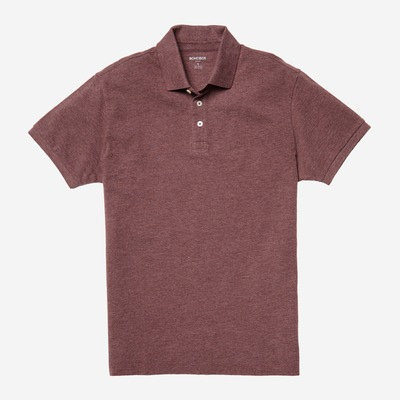 Don't let the blues get you down -- grab this heather brick polo instead, ehh?