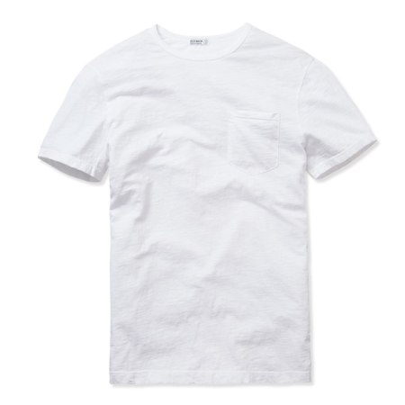 Just a white T-shirt? Think again. Slub cotton and a modern fit upgrade this Buck Mason number.