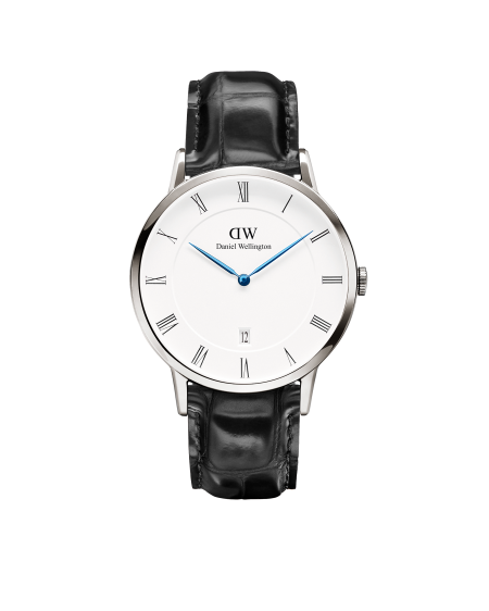 The blue hands and Roman numeral hour markers put this watch firmly in dressy territory. Photo courtesy of the brand.