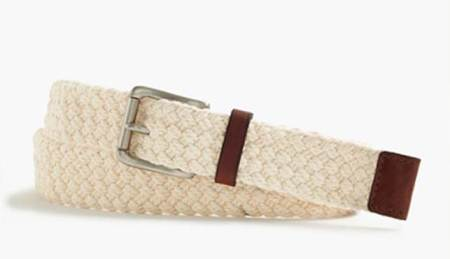 A nontraditional belt that brings a dash of spring texture to the ensemble.