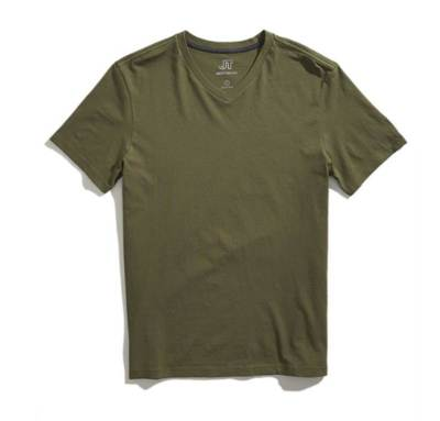 A trim fit and understated color make this tee a nice option for the holiday.