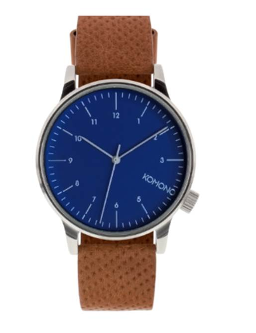 The cognac strap, blue dial and silver dial markings are a pretty pleasing combo that should work well in this outfit.