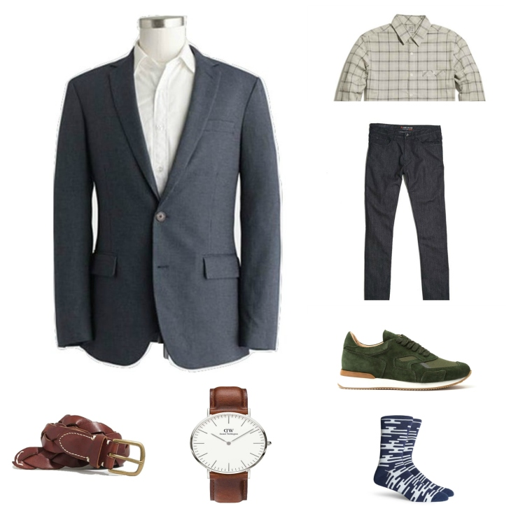 A blazer on St. Patrick's Day? If you're working, yes. If not, stick with a slim flannel to class it up a bit.