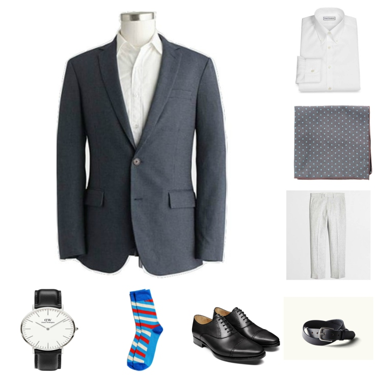 Business-ready spring style with sharp black Oxfords and subtle patterns.