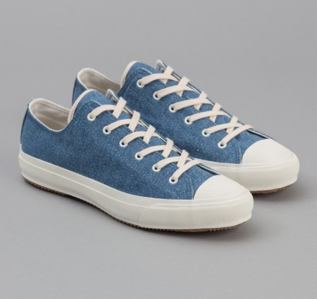 A style swerve from classic white low-tops, crafted from outstanding Japanese indigo cotton denim.