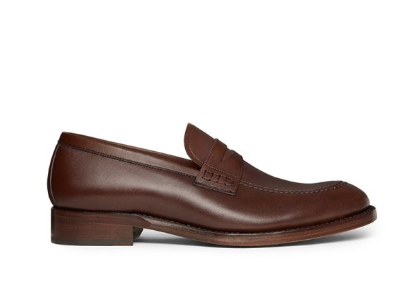 Not your grandfather's penny loafer -- the sleek, stylish Archie Penny Loafer in Hazelnut from Jack Erwin.