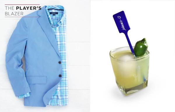 One blazer plus one beverage = a solid and stylish kick-off to Masters weekend.