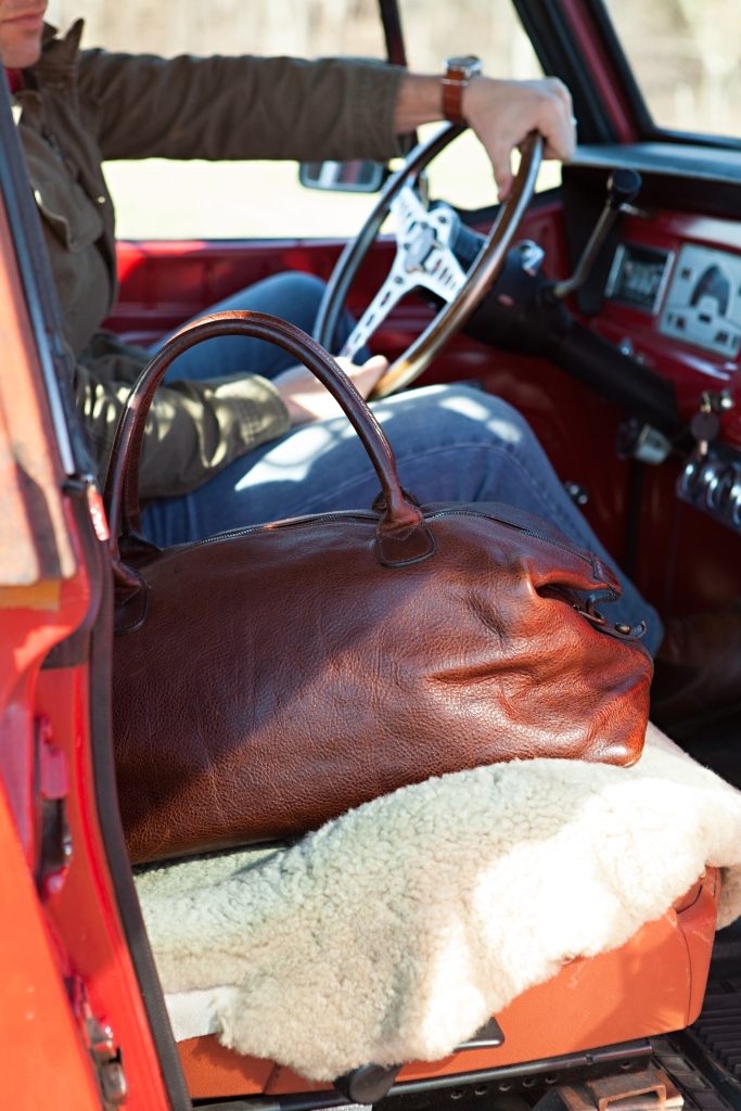 Just one of the exceptionally high-quality bags produced by the brand. Photo courtesy of Moore & Giles.