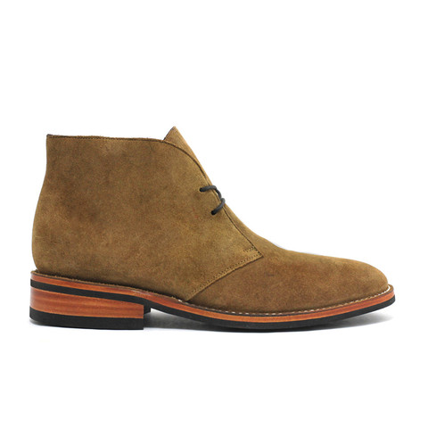 Eye-catching honey suede from Thursday Boots makes this pair of chukkas a stunner.