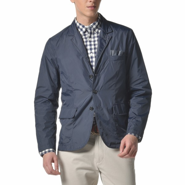 A blazer that's built with the quality and construction of a rain jacket.