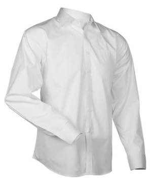 This is no ordinary dress shirt -- performance fabric is built-in under the arms.