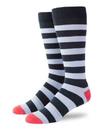 A win-win -- stylish socks that are breathable and comfortable.