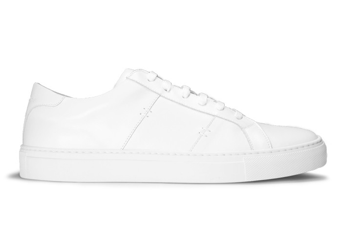 Classic, reliable, wearable with anything, and a bit dressier than the classic canvas sneaker.