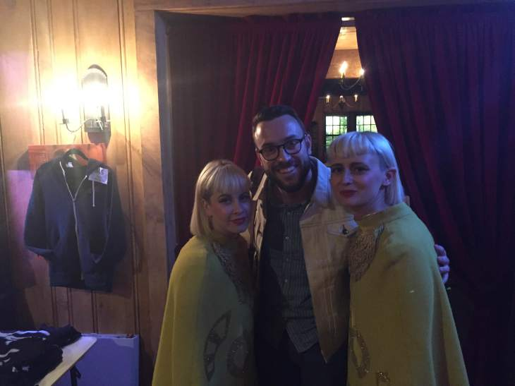 The topper to an amazing evening -- meeting Jess Wolfe and Holly Laessig of Luicus, both of whom are extraordinary musicians and very nice, to boot!