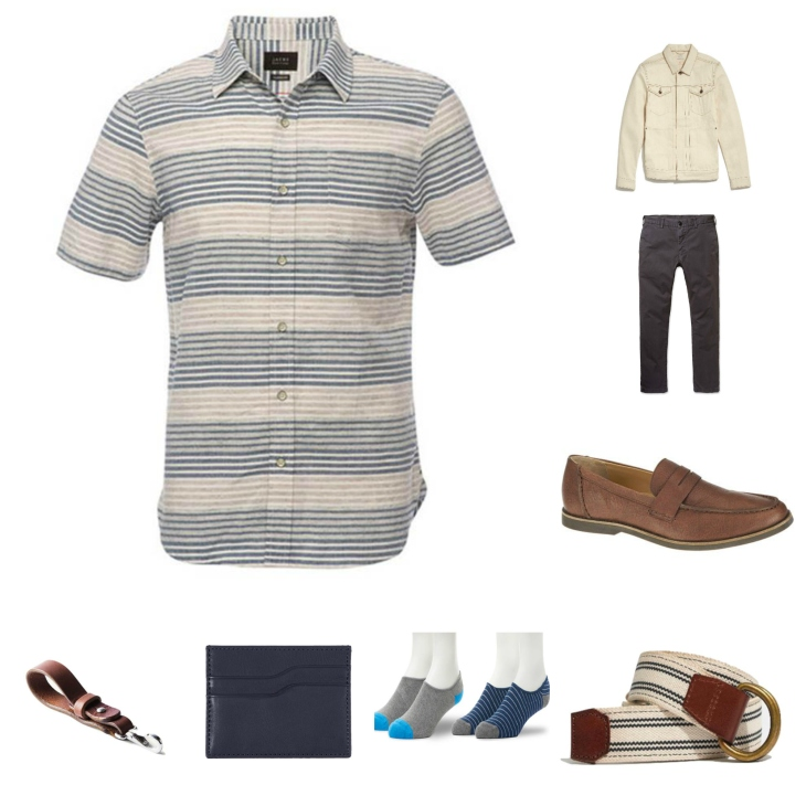 Pairing a surefire short-sleeve shirt with a mix of style essentials.