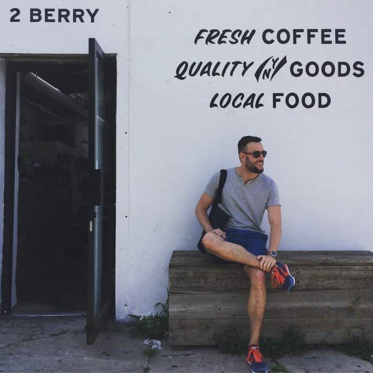 Checking out Upstate Stock, one of my favorite NYC menswear shops, in style. Slim chambray shorts from the Canvas by Lands' End line. Moroccan Tee by Tommy John. Chariot Runners by Brooks Heritage. Waterbury Chrono from the Timex x Red Wing collab. Sunglasses by Spine Optics. Denim Tote by JackThreads.