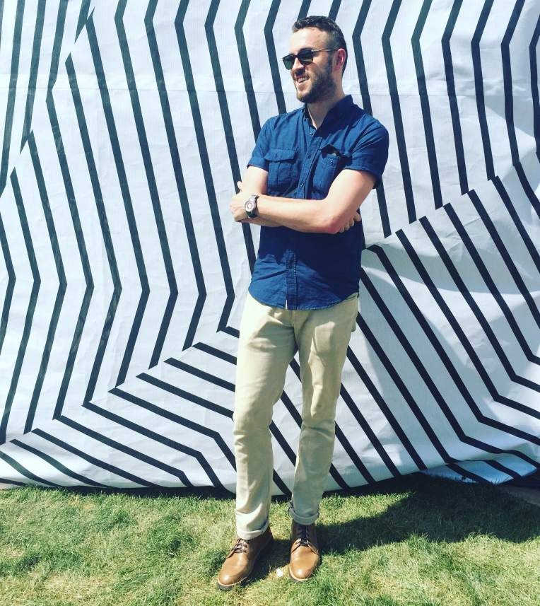 The heat didn't stop me from rocking out in style. Linen-blend shirt by Old Navy. Silm Light Mercer Denim by Mott & Bow. Natural Diplomat Boots by Thursday Boots. Millbrook Sunglasses by Steven Alan Optical. Mod Watch from the Timex x Todd Snyder collab.