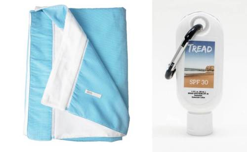 Don't overlook the benefits of a great beach towel -- or much-needed sunscreen.
