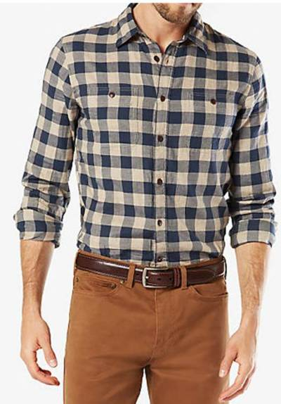 A unique texture and solid color make this shirt an easy pick-up.