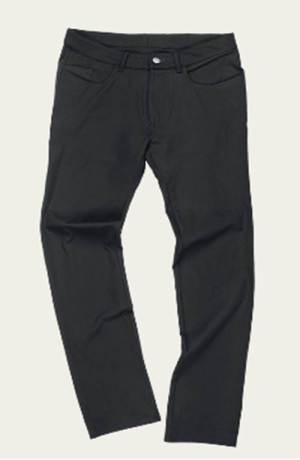A pant that manages to be ultra-stretchy and yet still sharp.