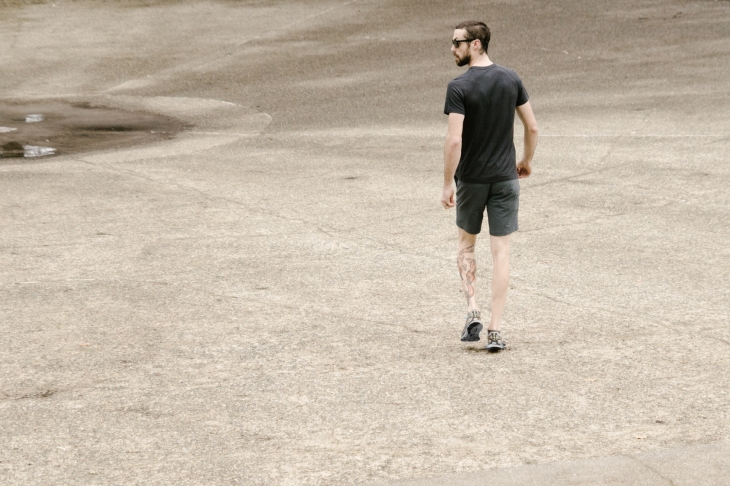 The Capital Short in action, paired up with the Convoy Tee. Photo courtesy of OLIVERS Apparel.