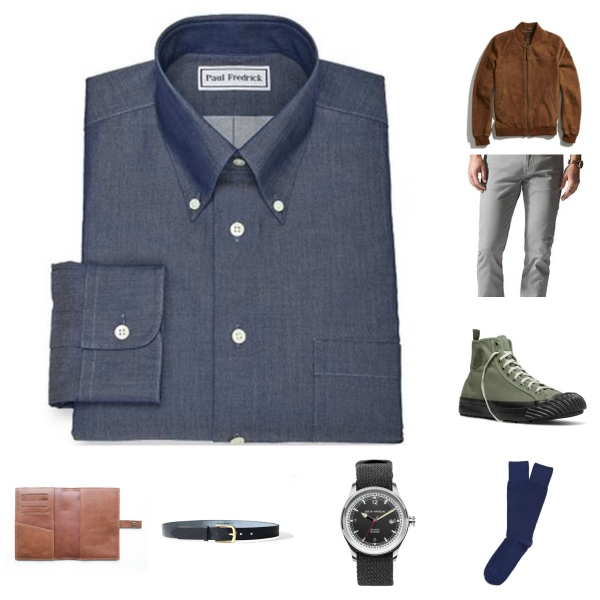 Part casual, part classic and all wearable -- taking a denim shirt and mixing things up.
