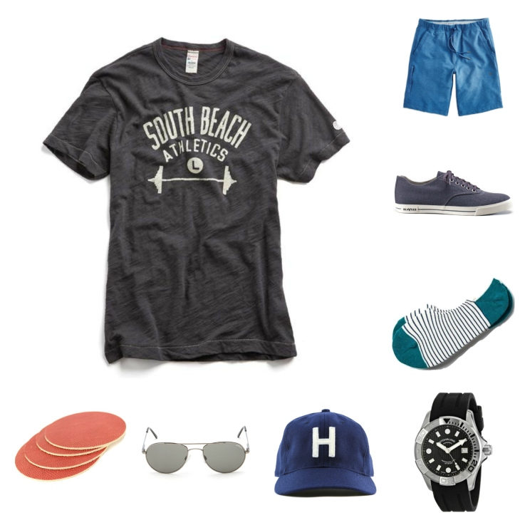 An ensemble that's sport-inspired yet not packed with athletic gear, finished off with classic footwear and shades.