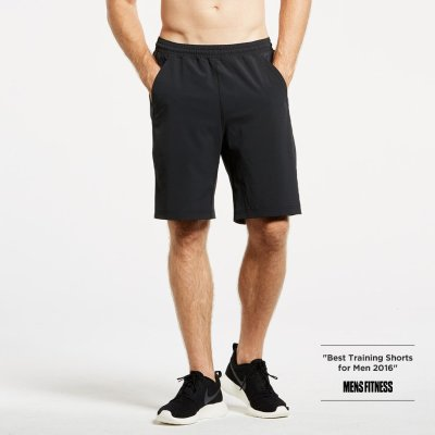 A simple pair of shorts that's drawn acclaim from publications like Men's Fitness (as you can see in that photo).