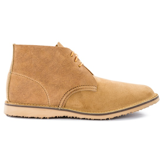 A unique chukka boot that works for both spring and summer style scenarios.