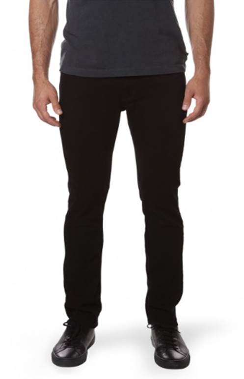 Slim, easy to wear and sleek -- the ideal pair of black denim, new from Mott & Bow.