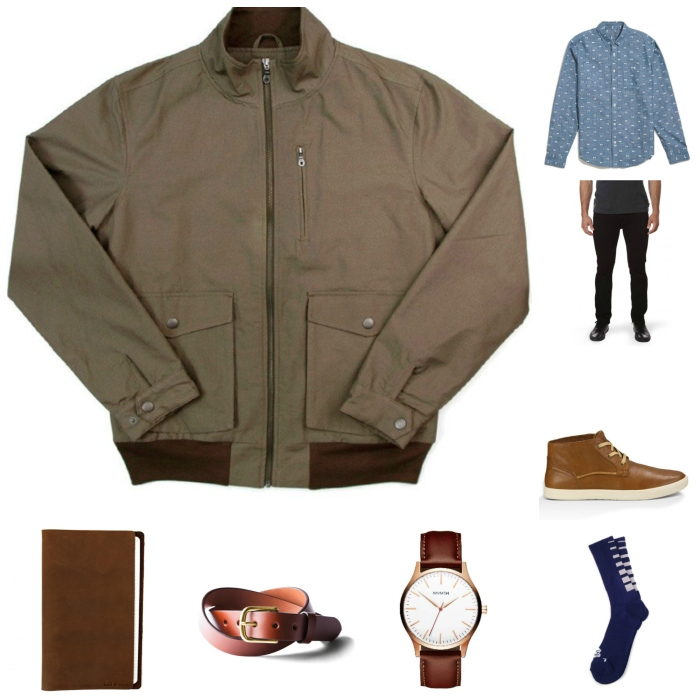 Slick, sharp and casual -- just the right way to wear a bomber this fall.