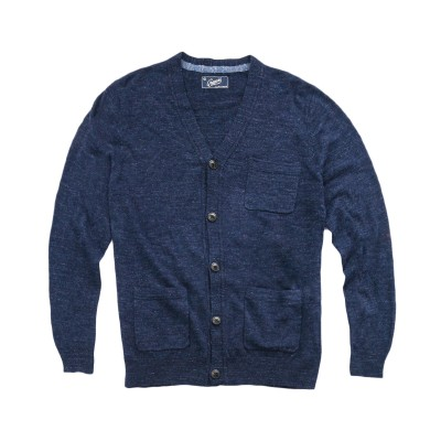 A cotton cardigan can still work in the fall -- just pair with a slim henley and cold-weather accessories.