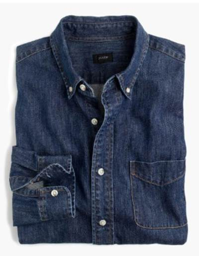 It's tough to go wrong with J. Crew -- this denim shirt is a surefire winner.