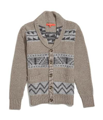 A neutral base livened up with a visually interesting Fair Isle pattern.