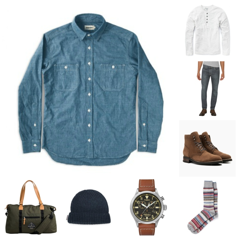 The perfect chambray shirt, worn just the right way for a perfect season in menswear.