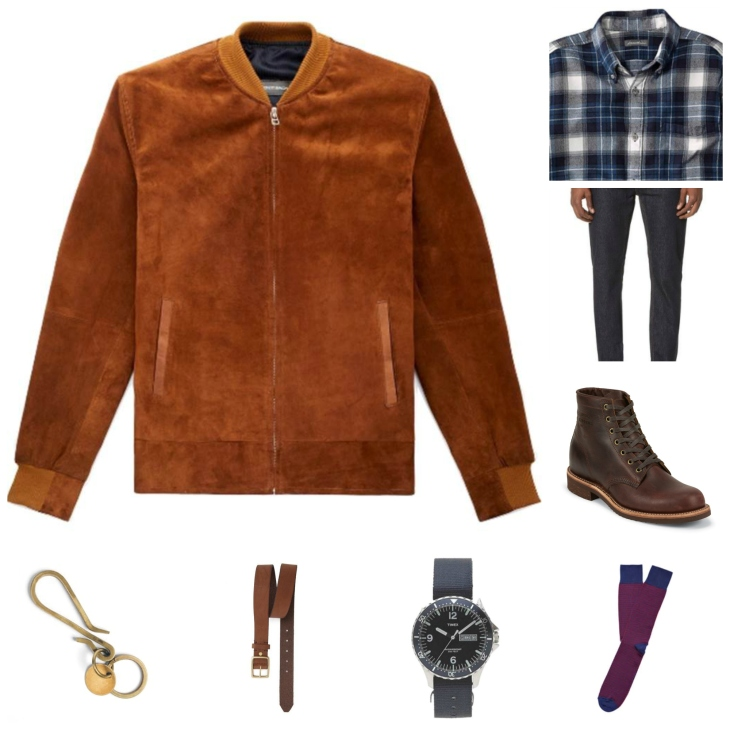 Not too trendy, not too boring -- just right. A modern flannel shirt paired with other modern staples.