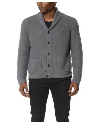 A strong silhouette, neutral color and luxury fabric make this cardigan worth the investment.