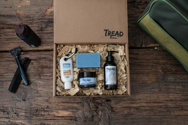 A kit packed with everything you need in terms of men's grooming -- and then some. Find out more about Tread for Men in the latest Style Q+A.