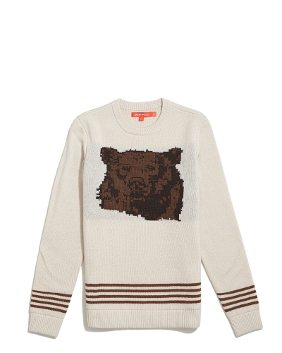 A sweater with a bear on it? Sure thing.
