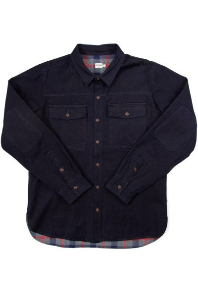 A deep indigo dye and sturdy construction make this a fall and winter layering favorite.
