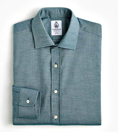 A dress shirt with some texture and a pleasing winter-ready color.