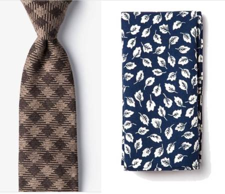 A plaid tie and a floral pocket square? Give it a try.